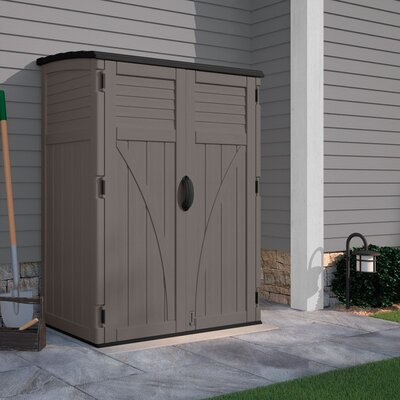 4 ft. 5 in. W x 2 ft. 9 in. D Plastic Vertical Tool Shed Siding Color: Stoney BMS5700SB