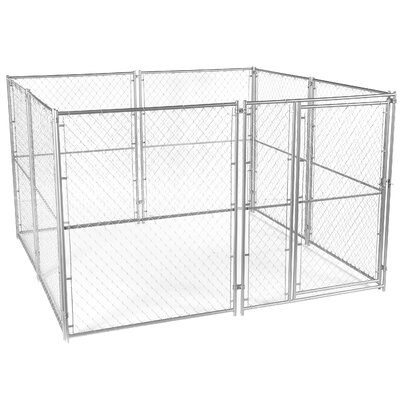 Lucky Dog� Chain Link Yard Kennel Size: 6 H x 10 W x 10 L