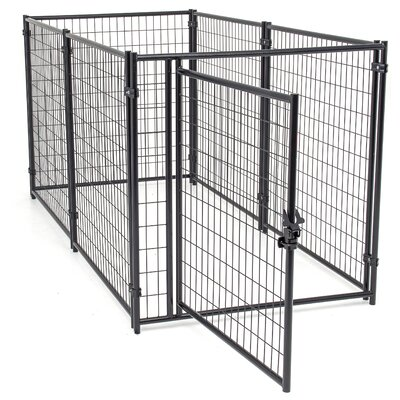 Lucky Dog� Modular Welded Wire Kennel Kit Size: 4 H x 4 W x 8 L