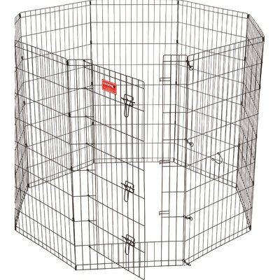 Lucky Dog 8 Panel Hd Dog Pen Size: 48