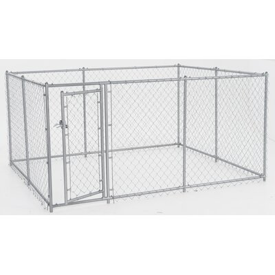 Alina Champion Steel Yard Kennel Size: 4H x 5W x 10L