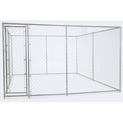 Lucky Dog Champion Steel Yard Kennel Size: 6H x 5W x 15L