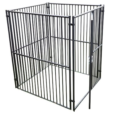 European Style Wide Yard Kennel Size: 6 H x 5 W x 5 L