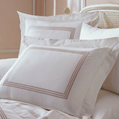 Allende Pillow Sham Size: King, Color: Taupe / White