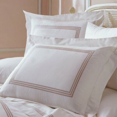 Allende Pillow Case Size: Standard, Color: Chocolate / White