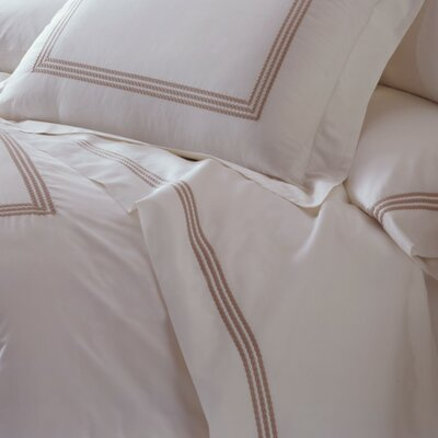 Allende 400 Thread Count Linen Sheet Set in White / White Size: King