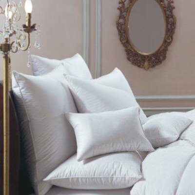Bernina Soft Goose Down and Feathers Pillow Size: Queen