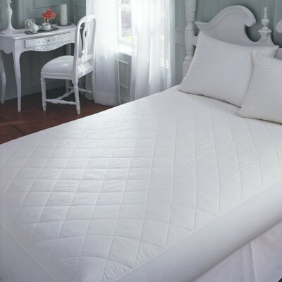 Cotton Mattress Pad Size: Twin, Depth: 14