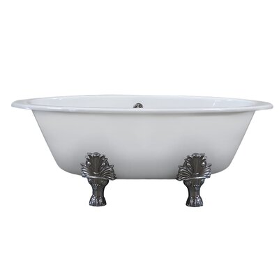 Wide Clawfoot Soaking Bathtub Feet Polished Chrome Spas Image