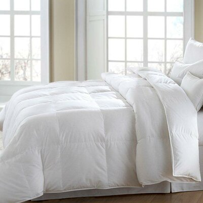 MACKENZA Firm Down and Feather Pillow Size: Standard