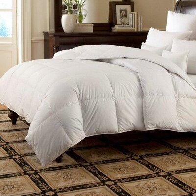 LOGANA Batiste Medium 920 Goose Down Pillow Size: Euro