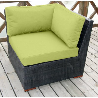 BELLINI Pasadina Corner Sectional Piece with Cushions - Fabric Color: Green