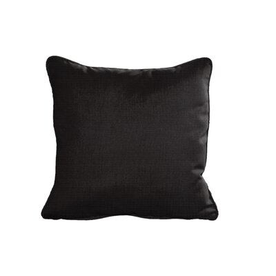 Sunbrella Cushion Indoor/Outdoor Throw Pillow Size: 6 H x 15 W x 15 D, Fabric: Canvas Black