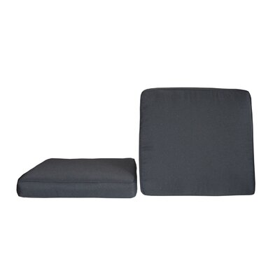 Sunbrella Dining Chair Cushion Fabric: Canvas Black