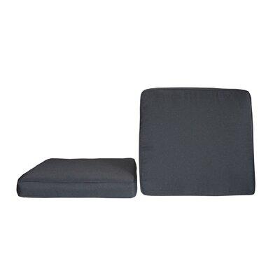 BELLINI Sunbrella Dining Chair Cushion - Fabric: Canvas Black