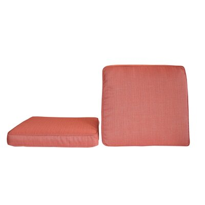 Sunbrella Dining Chair Cushion Fabric: Dupione Henna