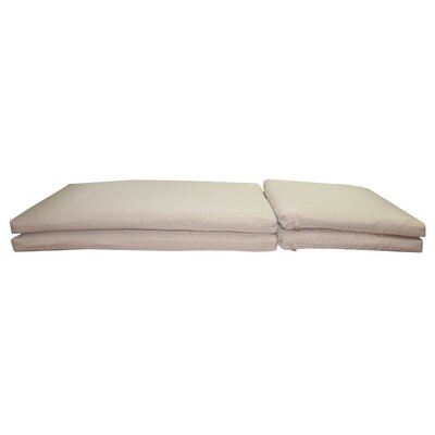 Outdoor Sunbrella Chaise Lounge Chair Cushion Fabric: Heather Beige