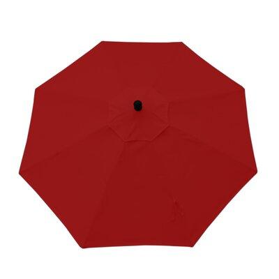 9ft Resort Market Umbrella Fabric: Canvas Jockey Red