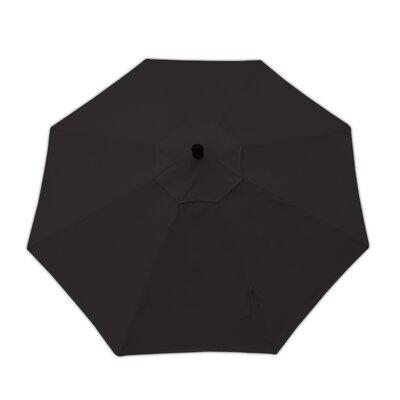 9ft Resort Market Umbrella Fabric: Canvas Black