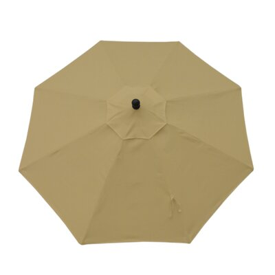 9' Resort Market Umbrella Fabric: Canvas Heather Beige 182027008846