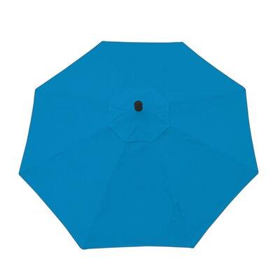 9ft Resort Market Umbrella Fabric: Canvas Pacific Blue