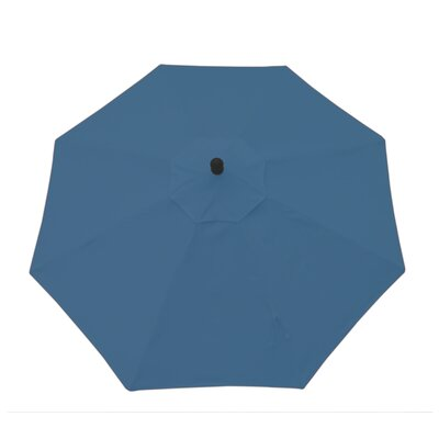 9ft Resort Market Umbrella Fabric: Canvas Sapphire