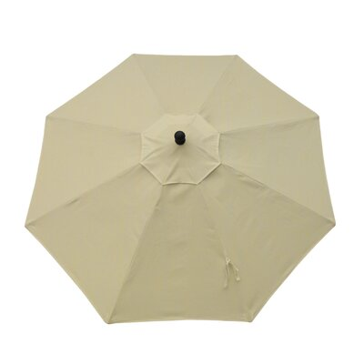 9ft Resort Market Umbrella Fabric: Canvas Vellum