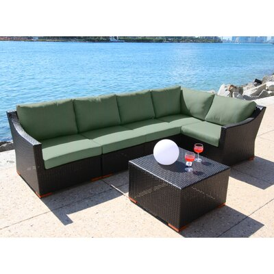 Marcelo 6 Piece Deep Seating Group with Cushion Fabric: Dura-Fast Fragship Blue