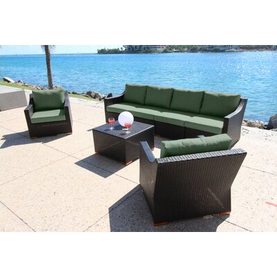 Marcelo 7 Piece Deep Group with Cushion Fabric: Dura-Fast Fragship Blue