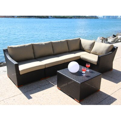 Marcelo 6 Piece Deep Seating Group with Cushion Fabric: Dura-Fast Meridian Metals