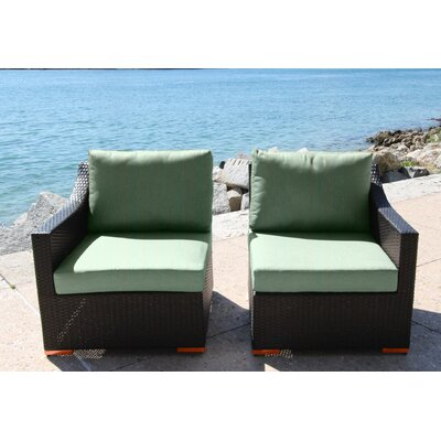 Marcelo Left/Right Sectional Piece with Cushions Fabric: Dura-Fast Fragship Blue