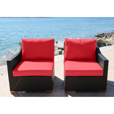 Marcelo Left/Right Sectional Piece with Cushions Fabric: Dura-Fast Red