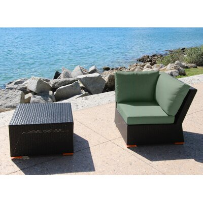 Marcelo 2 Piece Corner Seating Group with Cushion Fabric: Dura-Fast Fragship Blue