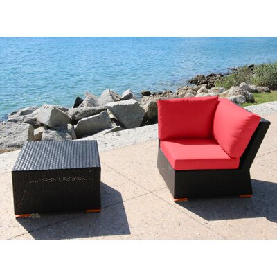 Marcelo 2 Piece Corner Seating Group with Cushion Fabric: Dura-Fast Red