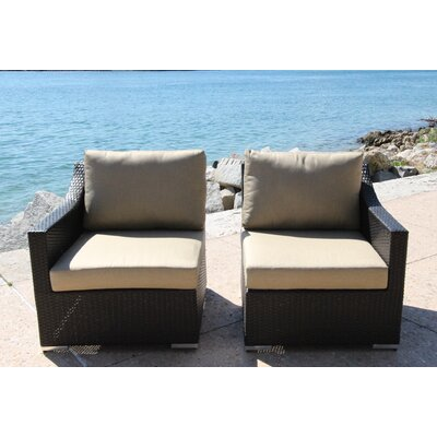 Marcelo Left/Right Sectional Piece with Cushions Fabric: Dura-Fast Meridian Metals