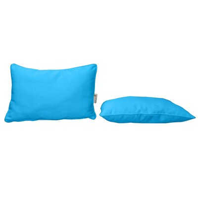 Outdoor Sunbrella Lumbar Pillow Color: Canvas Pacific Blue