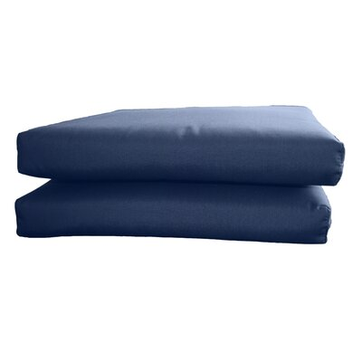 Outdoor Sunbrella Seat Cushion Fabric: Canvas Navy