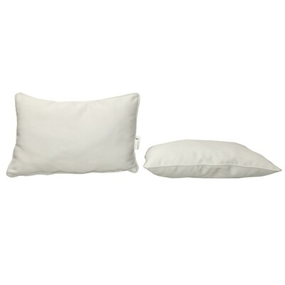 Outdoor Sunbrella Lumbar Pillow Color: Canvas Natural