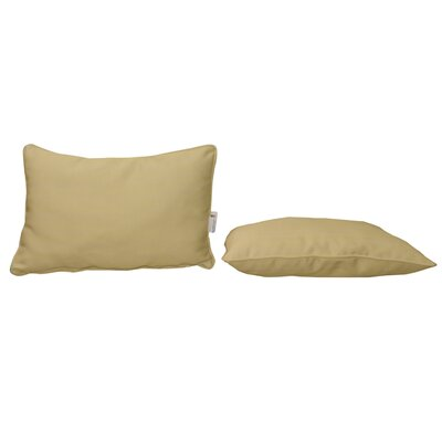 Outdoor Sunbrella Lumbar Pillow Color: Heather Beige