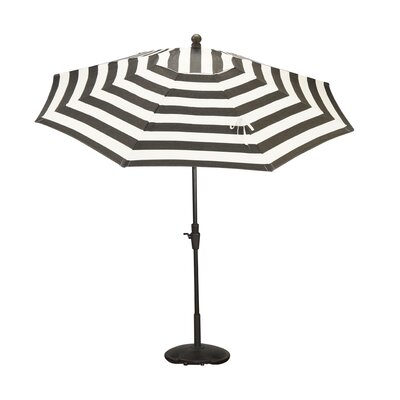 9 Resort Market Umbrella Fabric: Black / White