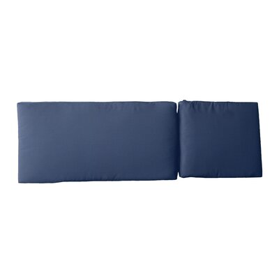Outdoor Sunbrella Chaise Lounge Cushion Fabric: Canvas Navy