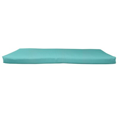 Outdoor Sunbrella Bench Cushion Fabric: Canvas Aruba, Size: 58 W x 18 D