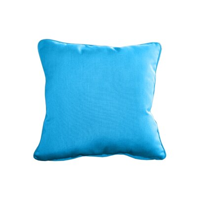 Outdoor Sunbrella Throw Pillow Size: 15 H x 15 W, Color: Canvas Pacific Blue