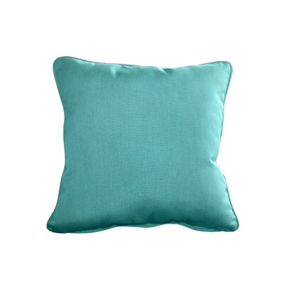 Outdoor Sunbrella Throw Pillow Size: 20 H x 20 W, Color: Canvas Aruba