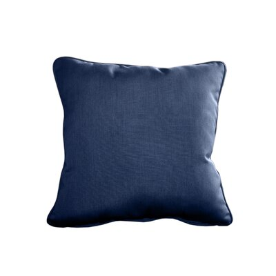 Outdoor Sunbrella Throw Pillow Size: 20 H x 20 W, Color: Canvas Navy