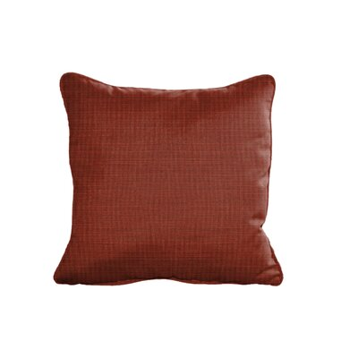 Outdoor Sunbrella Throw Pillow Size: 15 H x 15 W, Color: Dupione Henna