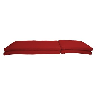 Indoor/outdoor Sunbrella Chaise Lounge Chair Cushion Fabric: Canvas Jockey Red