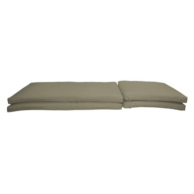 Outdoor Sunbrella Chaise Lounge Chair Cushion Fabric: Spectrum Dove