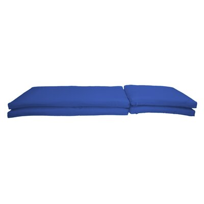 Outdoor Sunbrella Chaise Lounge Chair Cushion Fabric: Canvas True Blue