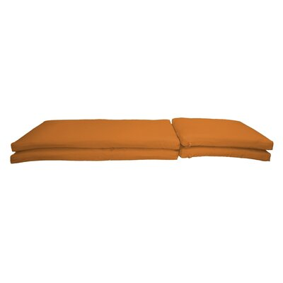 Outdoor Sunbrella Chaise Lounge Chair Cushion Fabric: Canvas Tuscan